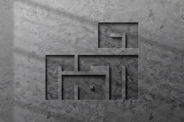 Mooie luxe betonnen logo mockup