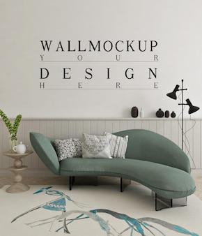 Mooie muurmodel in moderne woonkamer