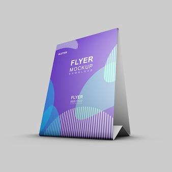 Mooie nette en schone flyer mockup presentatie