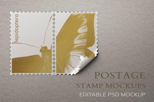 Mooie postzegels mockup