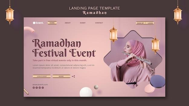 Mooie ramadan-bestemmingspagina-sjabloon