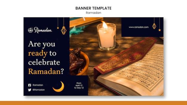 Mooie ramadan horizontale banner