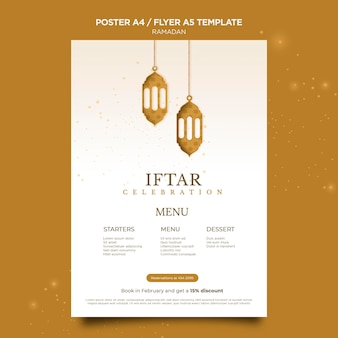 Mooie ramadan poster sjabloon