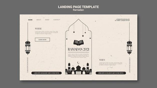 Mooie ramadan websjabloon