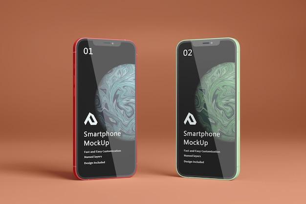 Mooie realistische smartphone mockup geïsoleerd