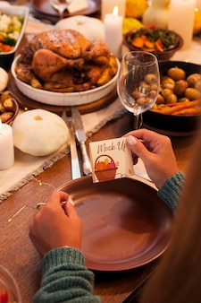 Mooie thanksgiving concept mock-up