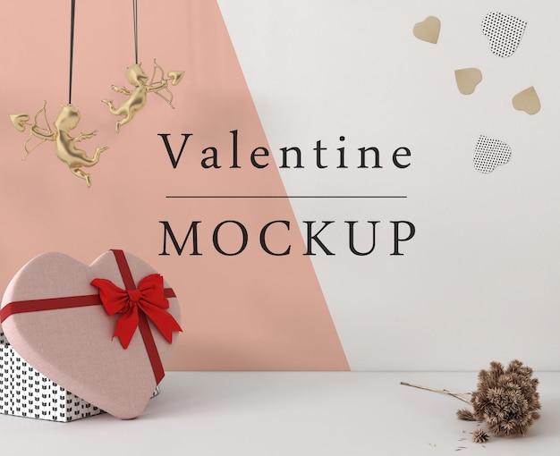 Mooie valentijnsdag concept mock-up