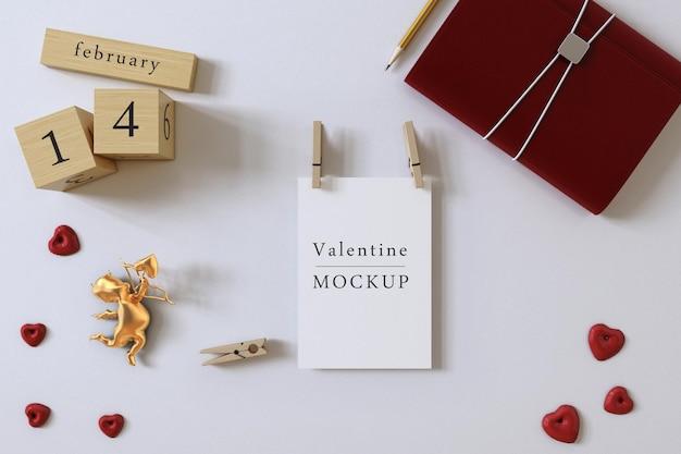 Mooie valentijnsdag concept mockup