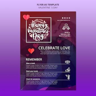 Mooie valentijnsdag folder sjabloon met foto