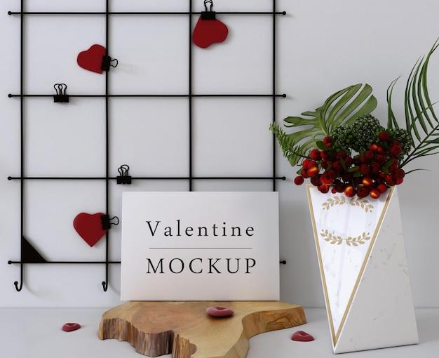 Mooie valentijnsdag giftcard mockup