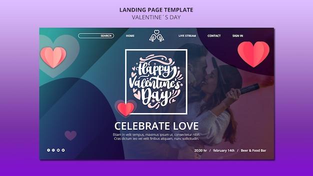Mooie valentijnsdag websjabloon