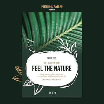 Mooie vegetatie folder sjabloon