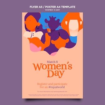 Mooie vrouwendag folder sjabloon geïllustreerd Gratis Psd