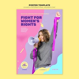 Mooie vrouwendag folder sjabloon met foto