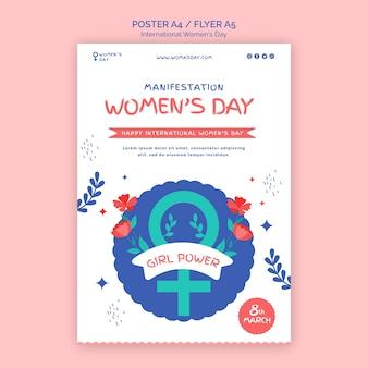 Mooie vrouwendag folder sjabloon