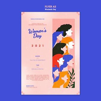 Mooie vrouwendag poster sjabloon geïllustreerd