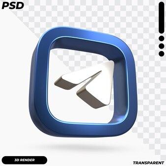 Mooie weergave van telegramlogo Premium Psd