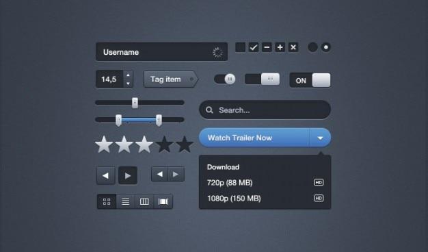 Moonify interfaz de usuario