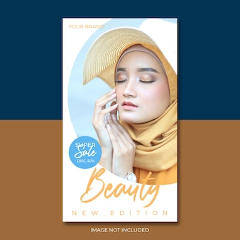 Moslim schoonheid en cosmetica poster