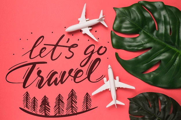 Motiverende belettering citaat voor vakantie reizen concept