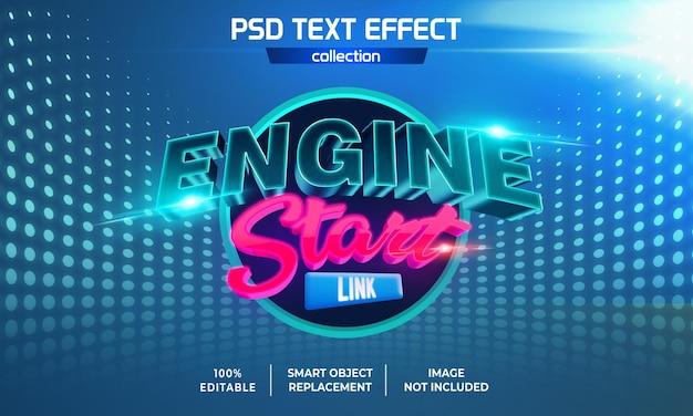 Motor start link spel tekst effect