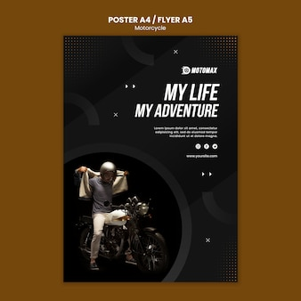 Motorfiets concept poster stijl