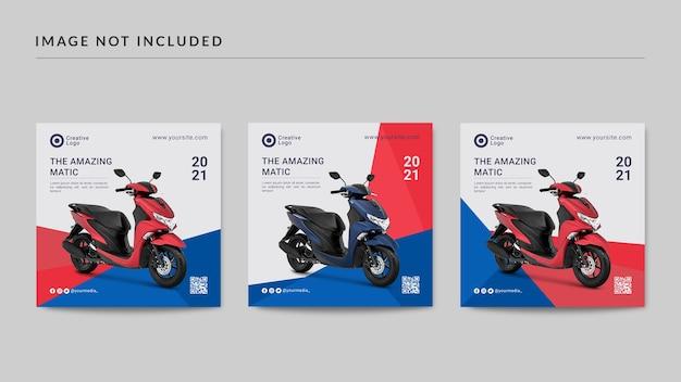 Motorfiets instagram-berichtsjabloon