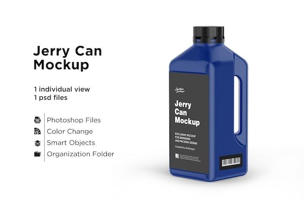 Motorolie jerry can plastic mockup