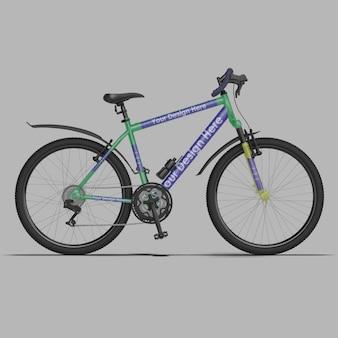 Mountainbike 3d mockup design geïsoleerd