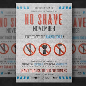 Movember poster ontwerp