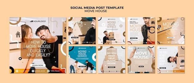 Mover la publicación de redes sociales de la casa