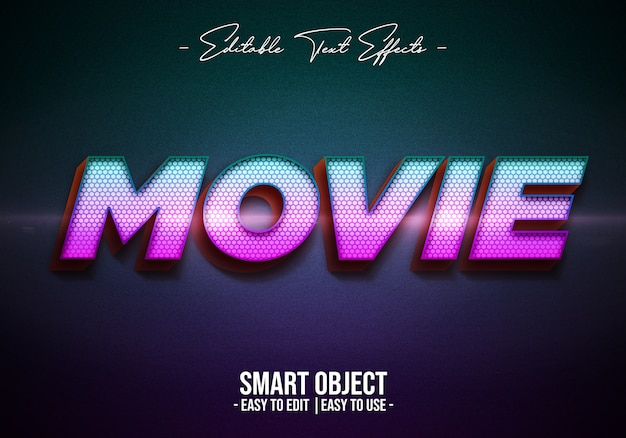 Movie-text-style-effect