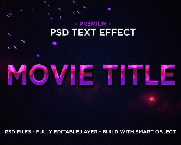 Movie tittle effetto testo 3d premium