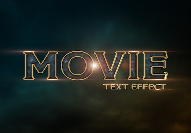 Movie trailer text effect