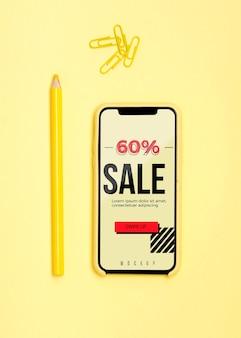 Móvil con compras en línea
