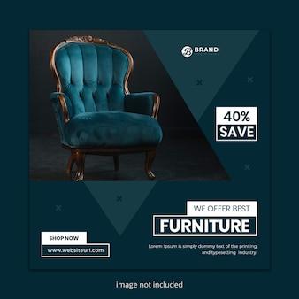 Muebles para la venta plantilla de publicación de instagram de redes sociales.