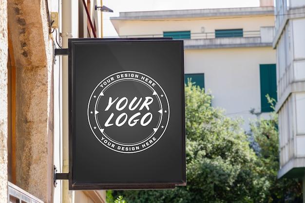 Muestra de logotipo de marca de la tienda maqueta