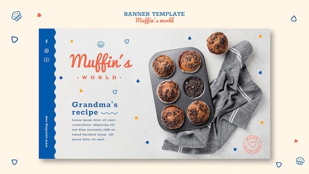 Muffins concept sjabloon voor spandoek