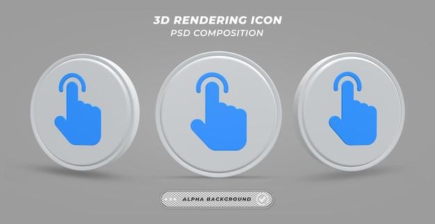 Muisaanwijzerpictogram in 3d-rendering