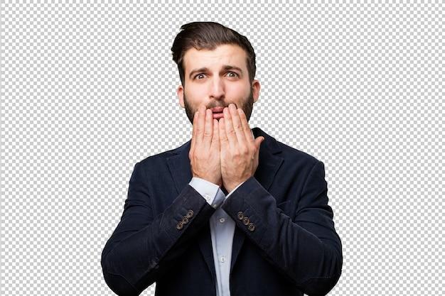 Mujer guapa sorprendida