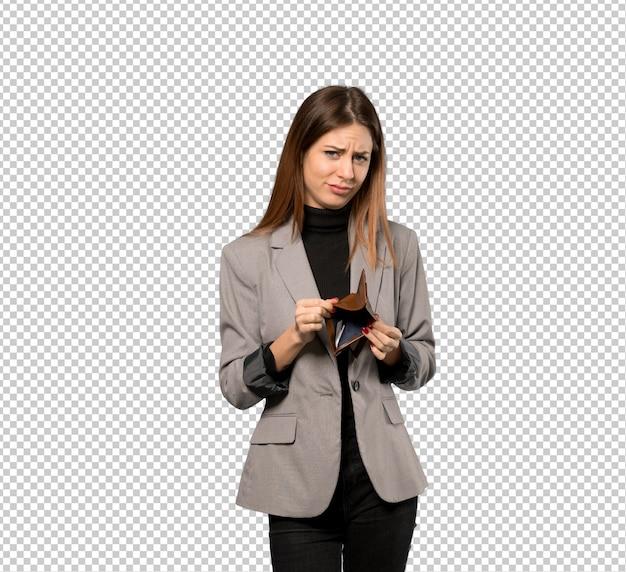 Mujer de negocios que sostiene una cartera
