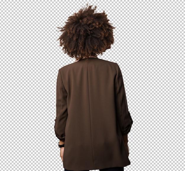Mujer negra en su espalda