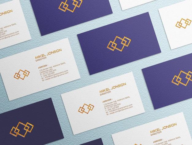 Multi-stijlen visitekaartje logo mockup