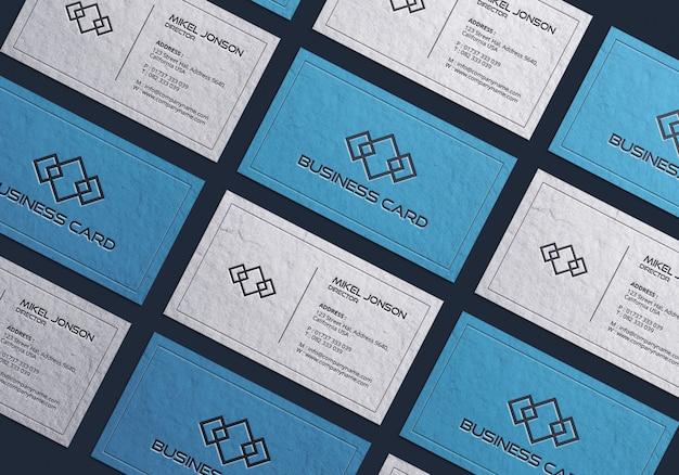Multi-stijlen visitekaartje mockup