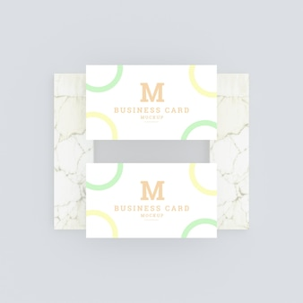Multifunctioneel modern visitekaartje mockup Premium Psd