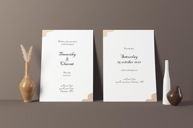 Multifunctioneel papieren briefpapier mockup vooraanzicht