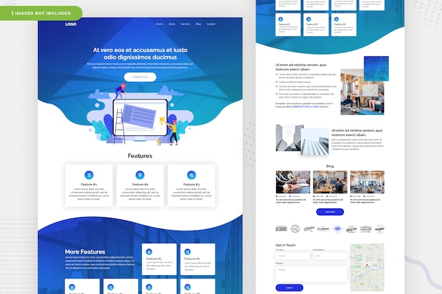 Multifunctioneel website-paginaontwerp