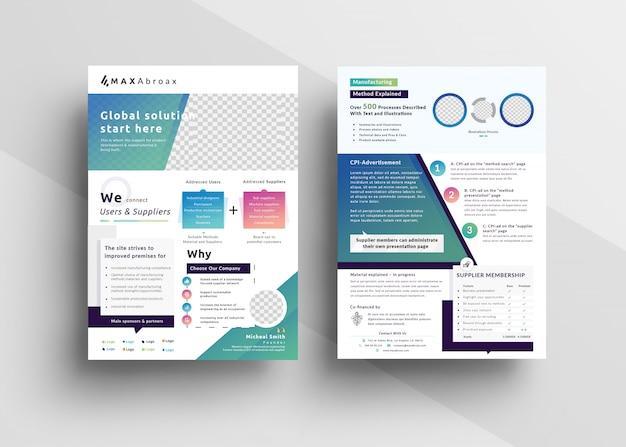 Multifunctionele marketing flyer-sjabloon