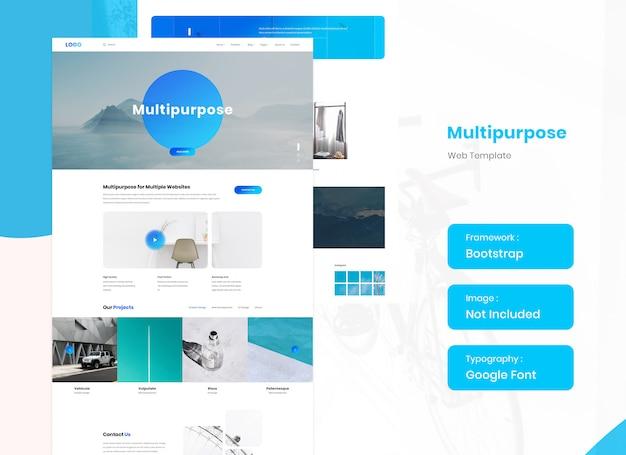 Multifunctionele website ontwerpsjabloon