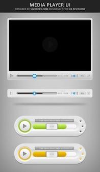 Multimediaspeler ui-elementen